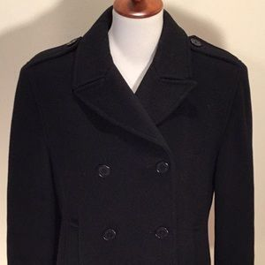 Calvin Klein 💯% wool double breasted pea coat
